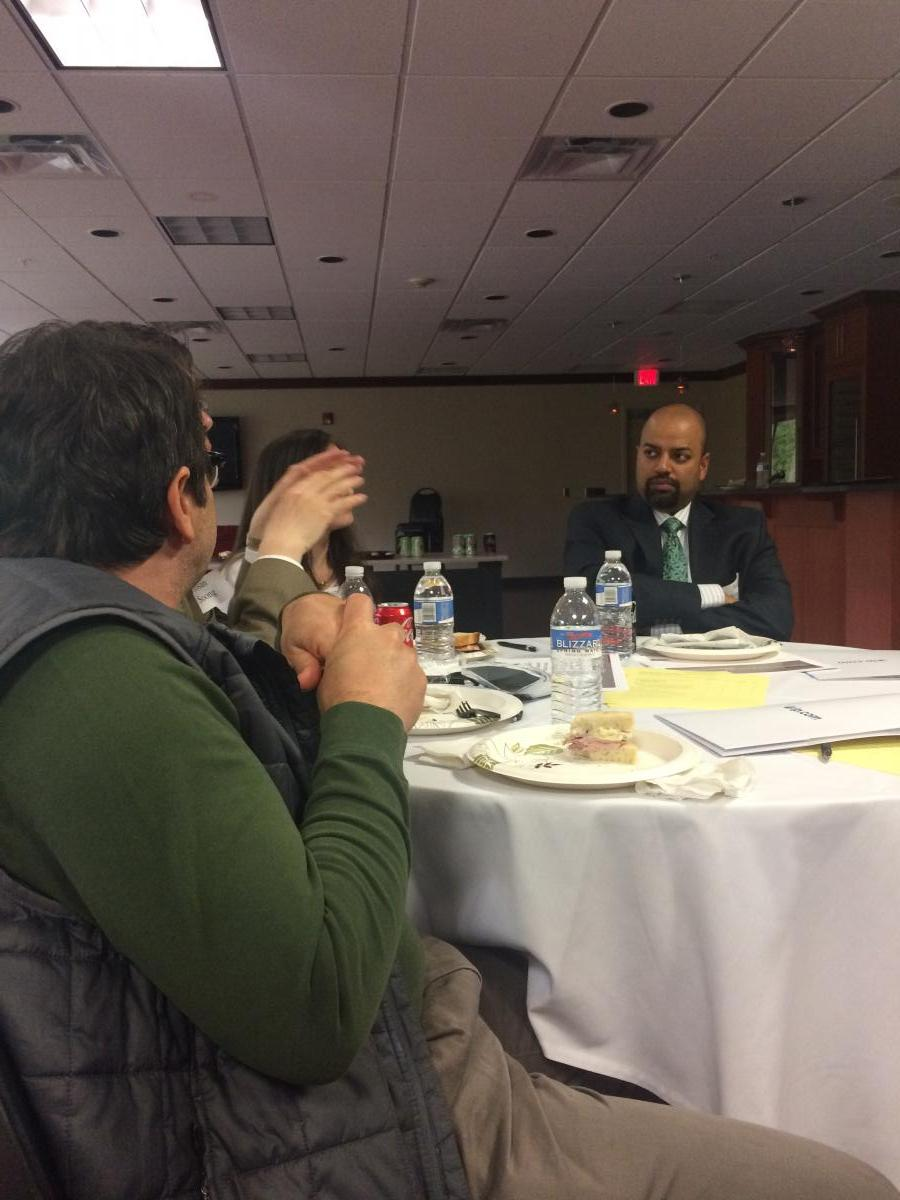 Amit Singhal, newly elected president of the RIPLA Board, listening to the presentation